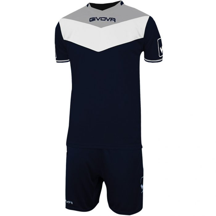 Givova Campo Football Kit Navy White Grey