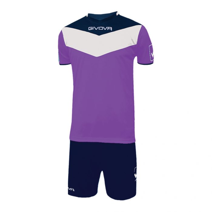 Givova Campo Football Kit Purple Navy