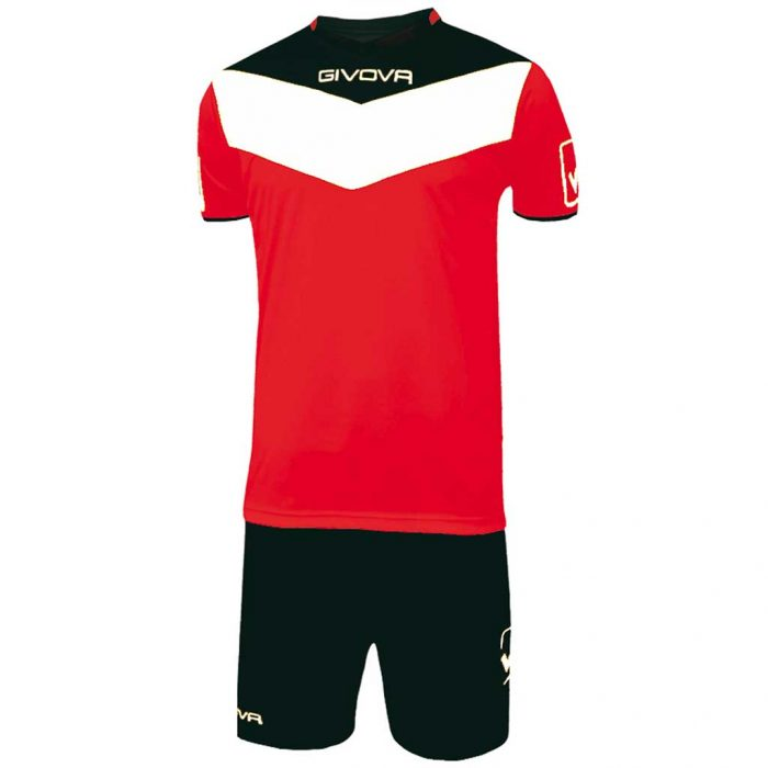 Givova Campo Football Kit Red Black