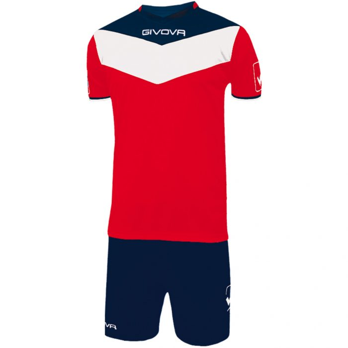 Givova Campo Football Kit Red Navy White