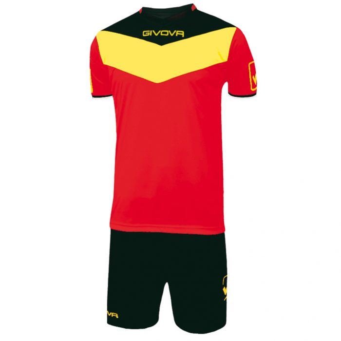 Givova Campo Football Kit Red Yellow Black