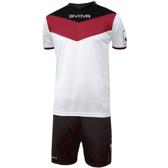 Givova Campo Football Kit White Red Black