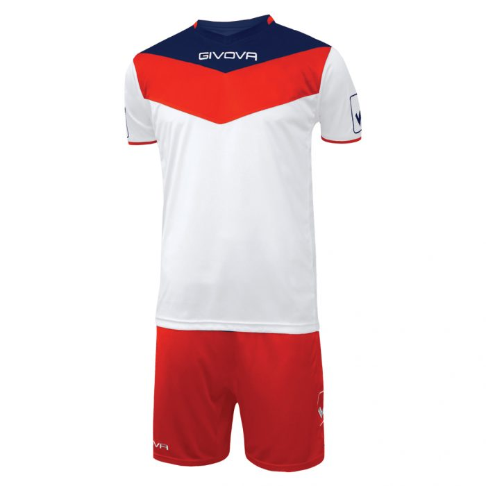 Givova Campo Football Kit White Red Navy