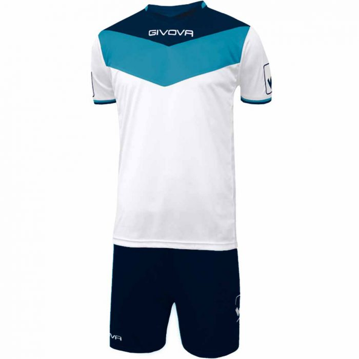 Givova Campo Football Kit White Sky Navy
