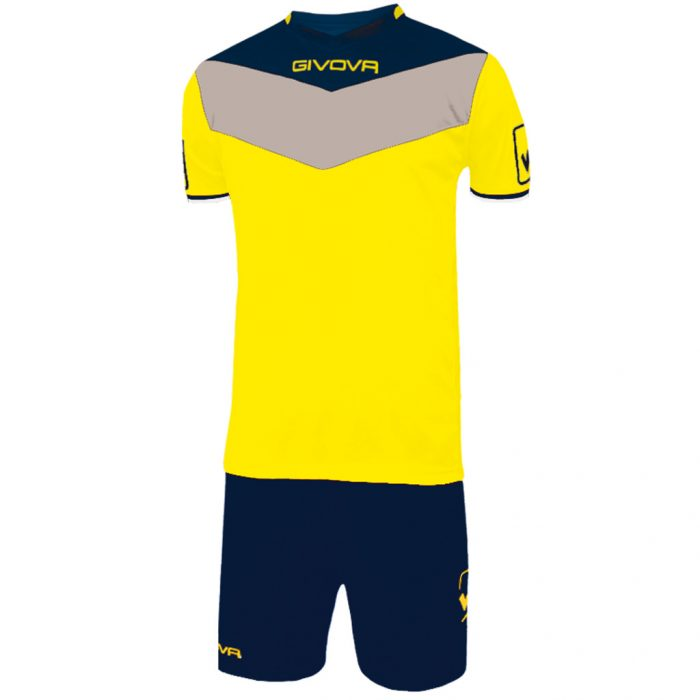 Givova Campo Football Kit Yellow Navy Grey