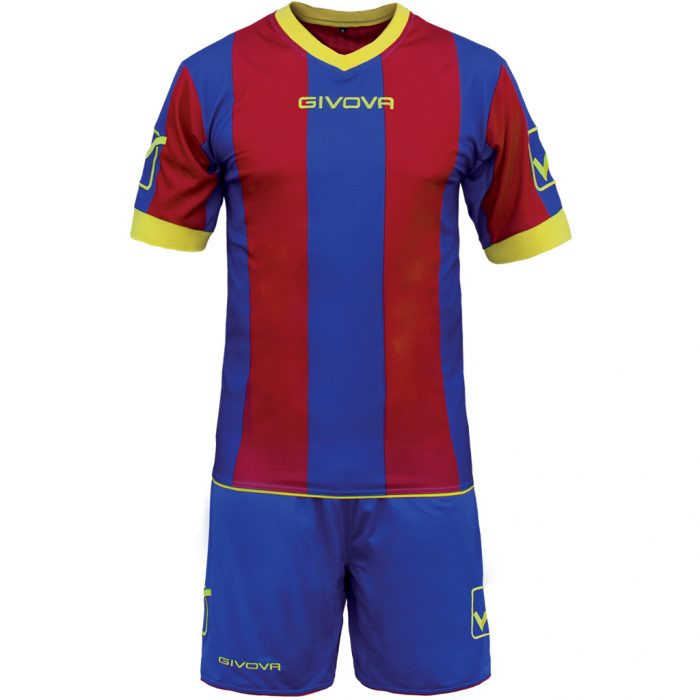 Givova Catalano Football Kit Blue Maroon