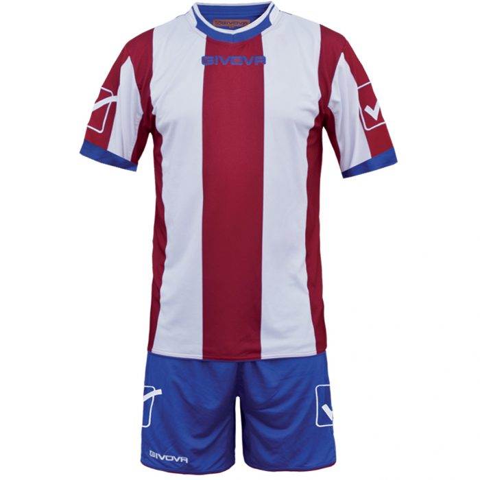 Givova Catalano Football Kit Red White