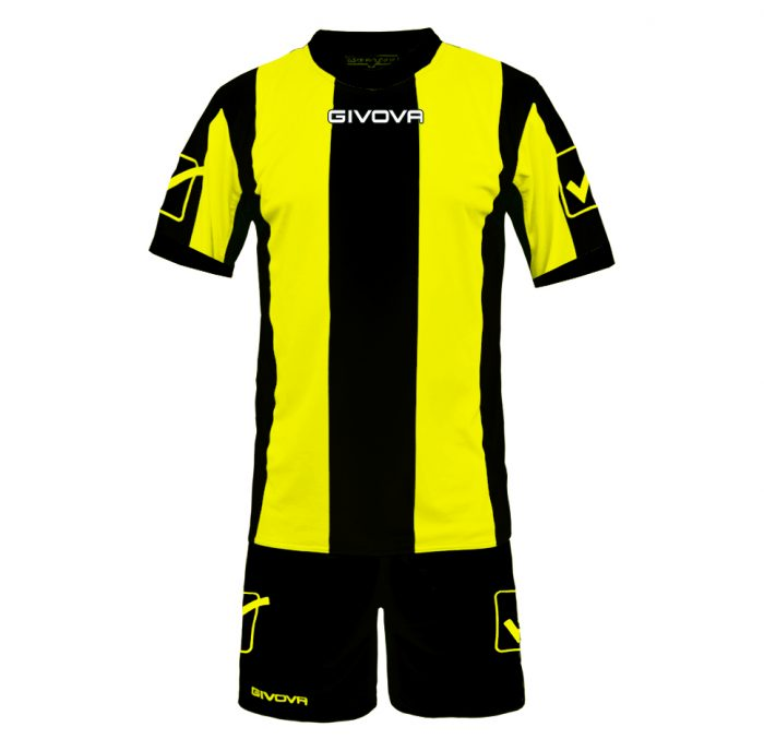 Givova Catalano Football Kit Yellow Black