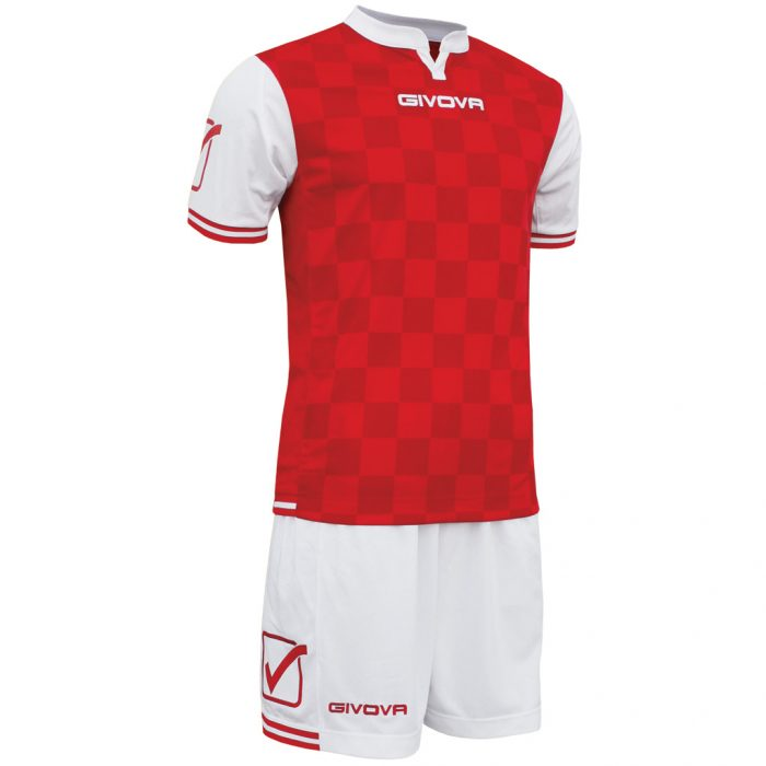 Givova Competition Football Kit White Red