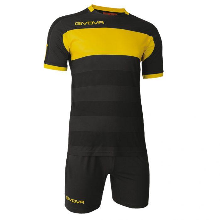 Givova Derby Football Kit Black Yellow