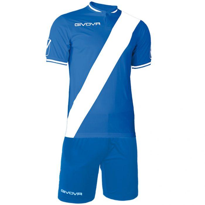 Givova Plate Football Kit Blue White