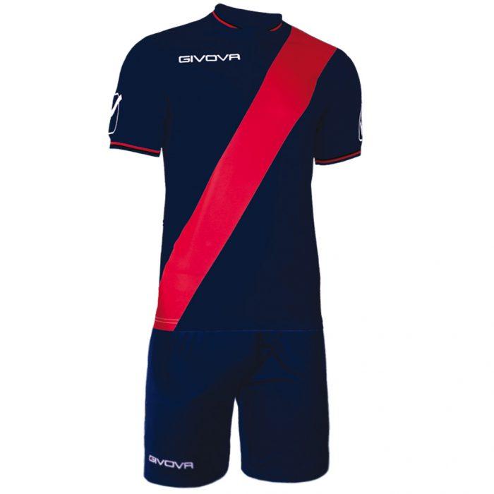 Givova Plate Football Kit Navy Red