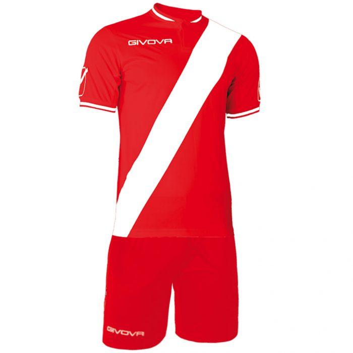 Givova Plate Football Kit Red White