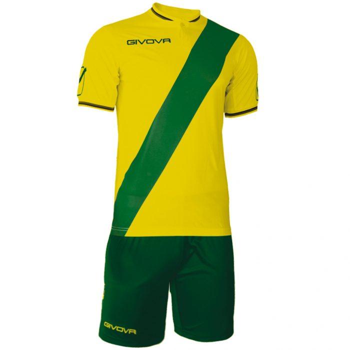 Givova Plate Football Kit Yellow Green