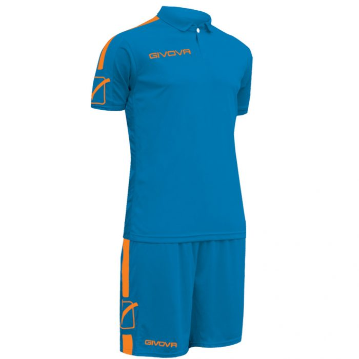 Givova Play Football Kit Blue Orange