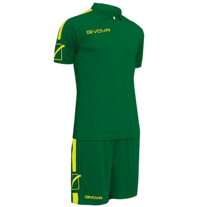 Givova Play Football Kit Green Yellow