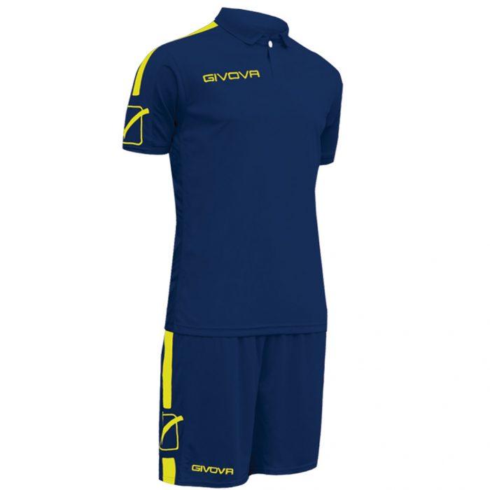 Givova Play Football Kit Navy Yellow