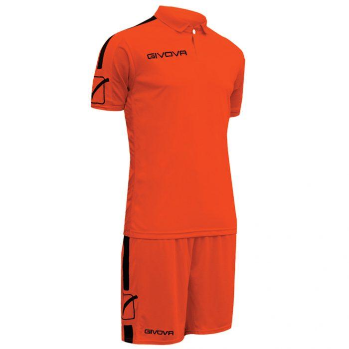 Givova Play Football Kit Orange Black