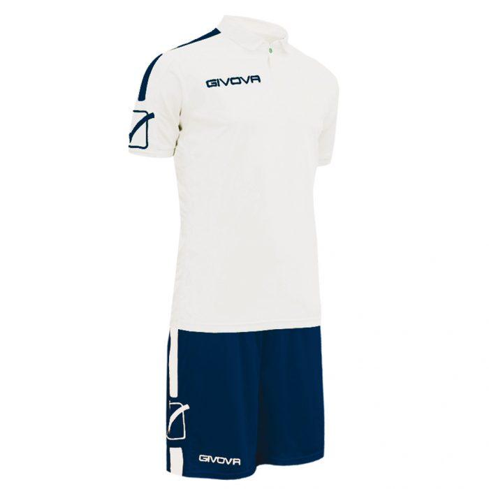 Givova Play Football Kit White Blue