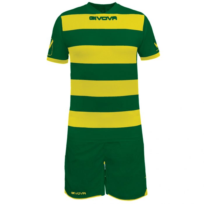 Givova Rugby Football Kit Green Yellow