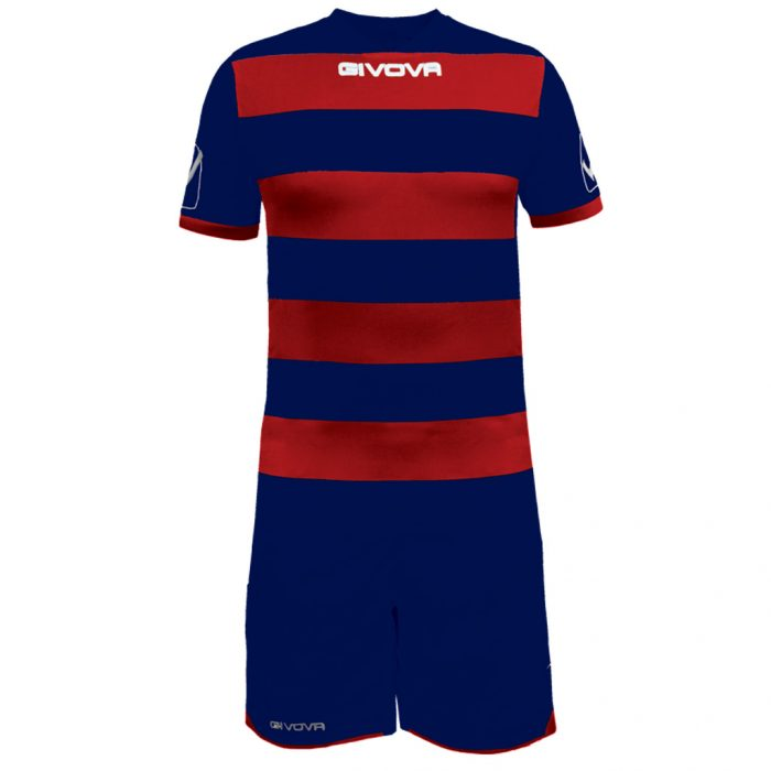 Givova Rugby Football Kit Navy Red
