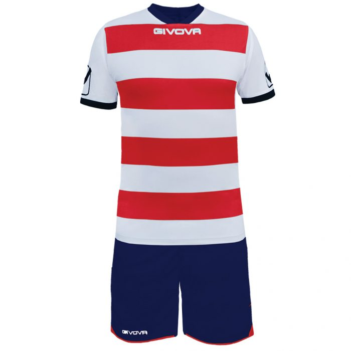 Givova Rugby Football Kit Red White