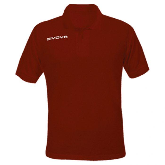 Givova Summer Polo Shirt Maroon