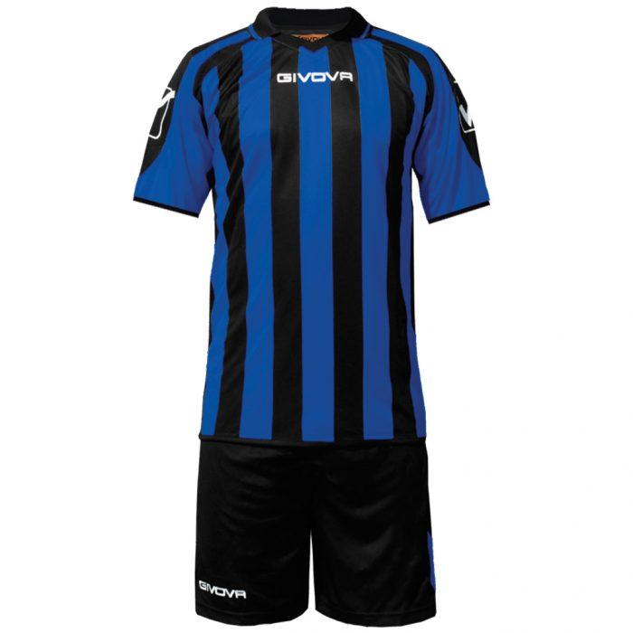 Givova Supporter Football Kit Black Blue