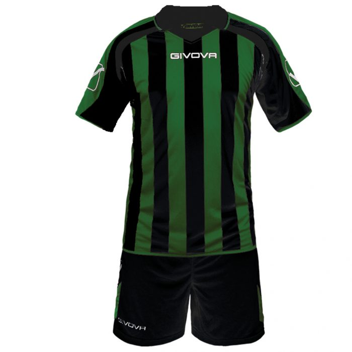 Givova Supporter Football Kit Black Green