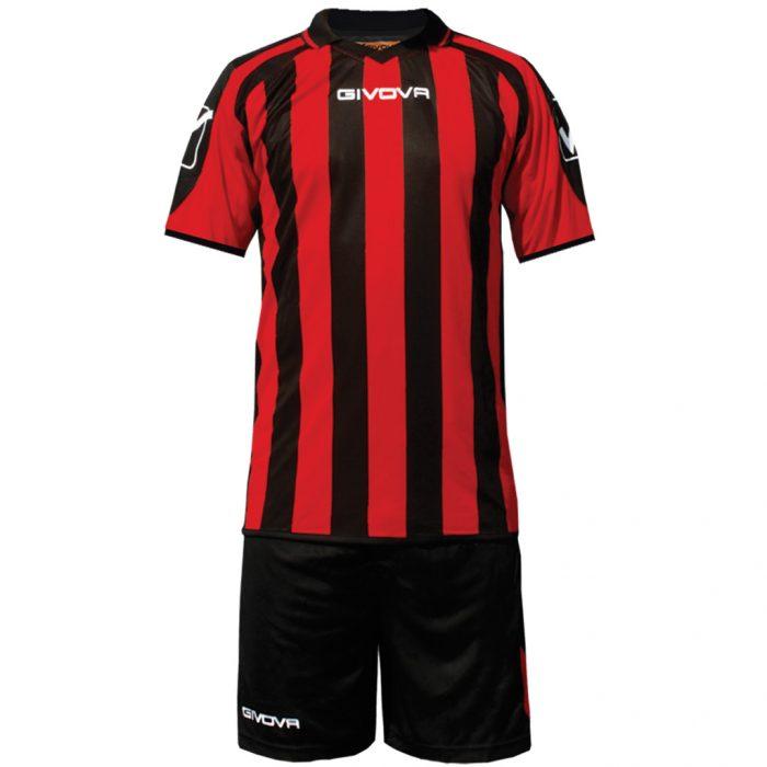 Givova Supporter Football Kit Black Red