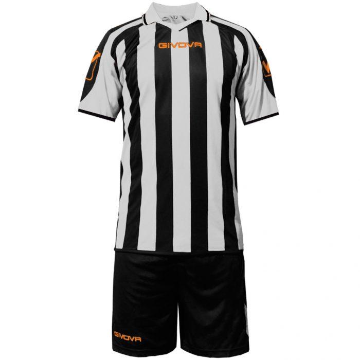 Givova Supporter Football Kit Black White
