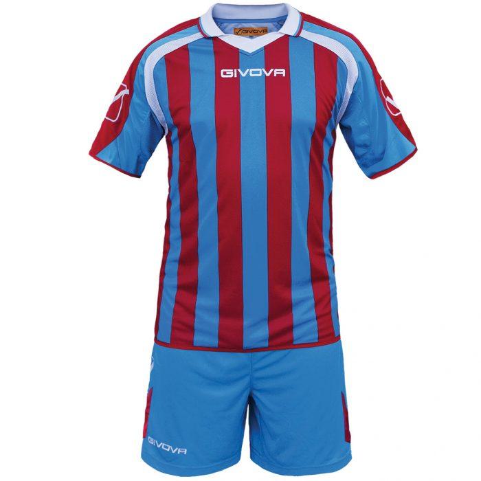 Givova Supporter Football Kit Sky Red