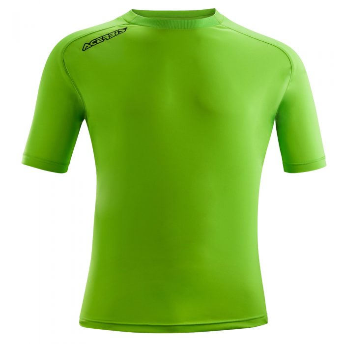 Acerbis Atlantis Training Short Sleeve Shirt Green Fluo