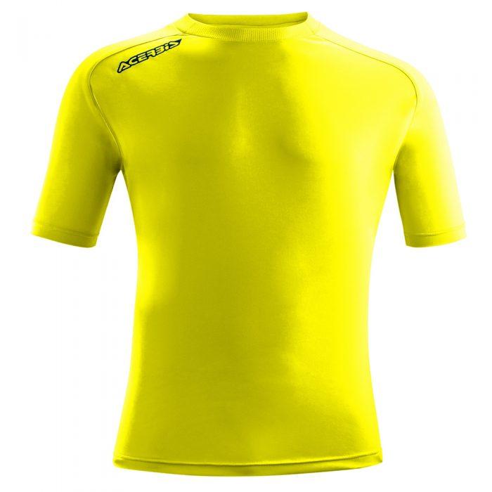 Acerbis Atlantis Training Short Sleeve Shirt Yellow Fluo