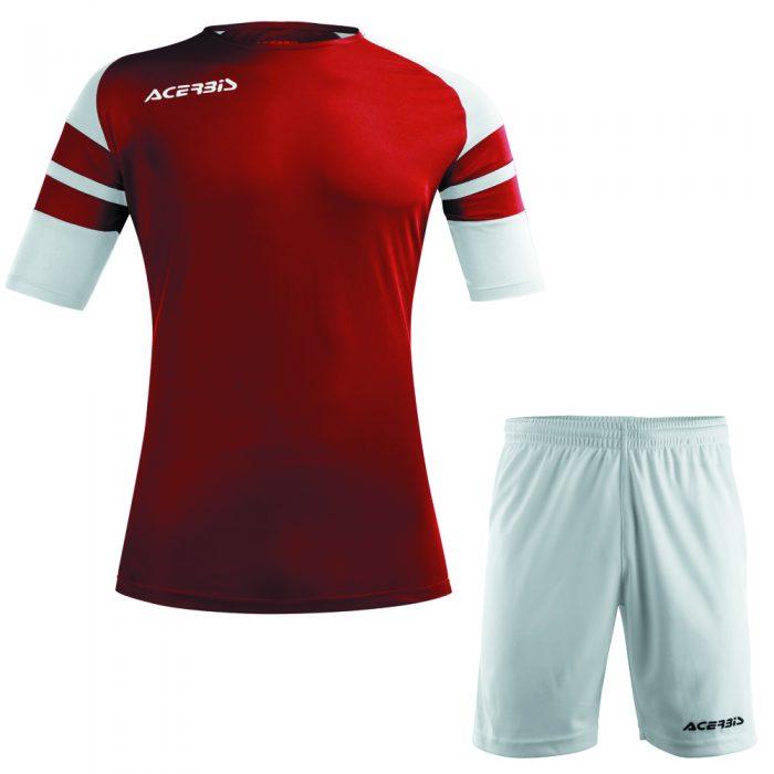 Acerbis Kemari Football Kit Maroon White Black