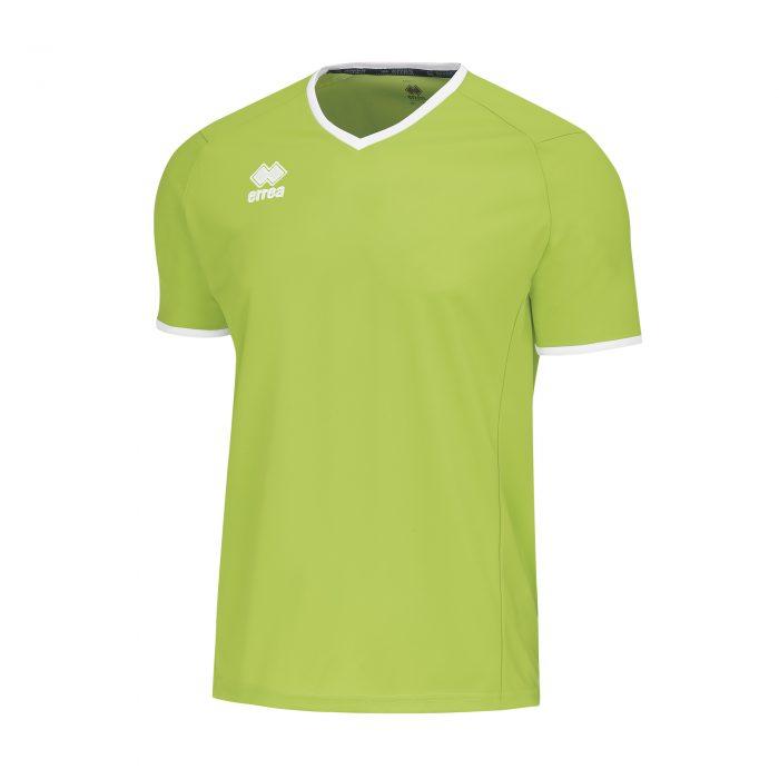 Errea Lennox Short Sleeve Shirt Green Fluo
