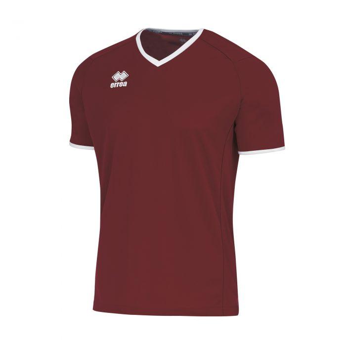 Errea Lennox Short Sleeve Shirt Maroon