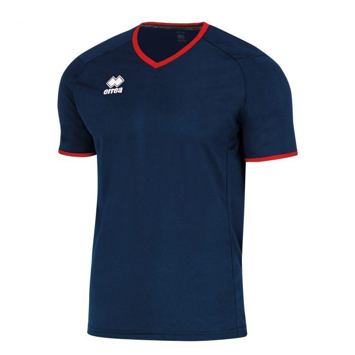 Errea Lennox Short Sleeve Shirt Navy Red
