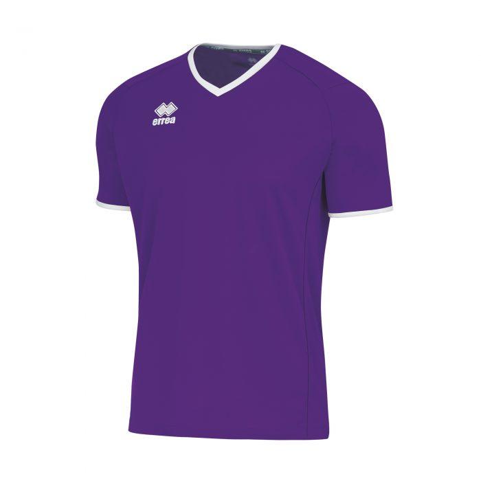 Errea Lennox Short Sleeve Shirt Purple