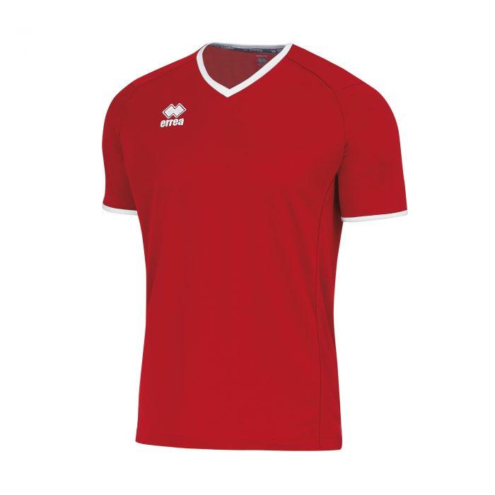 Errea Lennox Short Sleeve Shirt Red