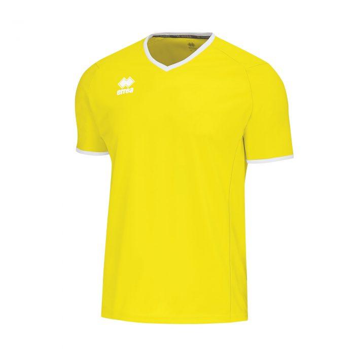 Errea Lennox Short Sleeve Shirt Yellow Fluo
