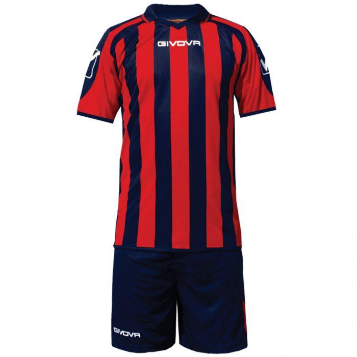 Givova Supporter Football Kit Navy Red