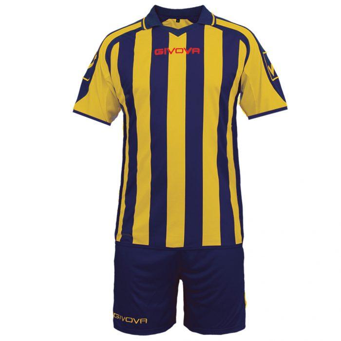 Givova Supporter Football Kit Navy Yellow