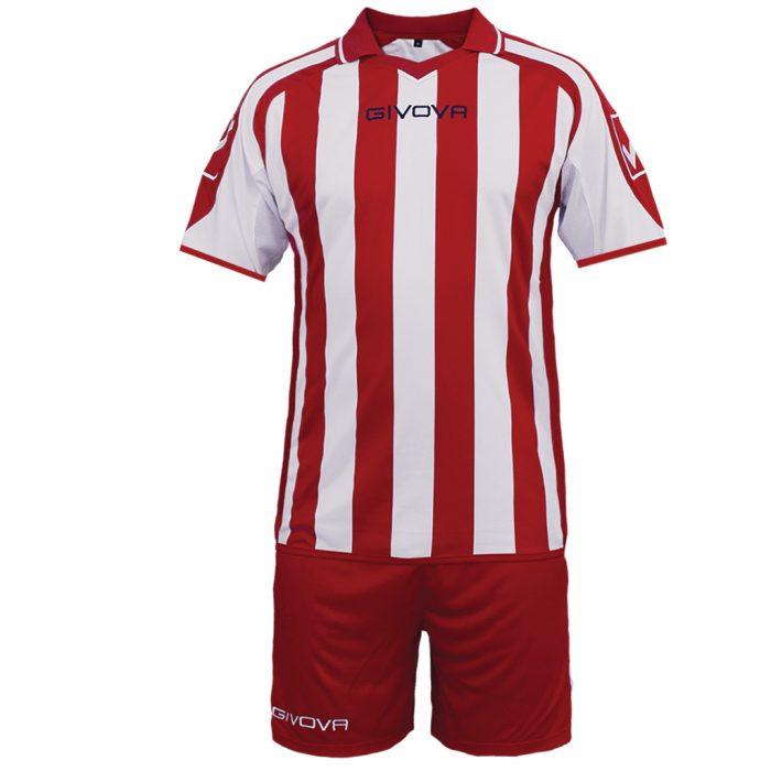 Givova Supporter Football Kit Red White
