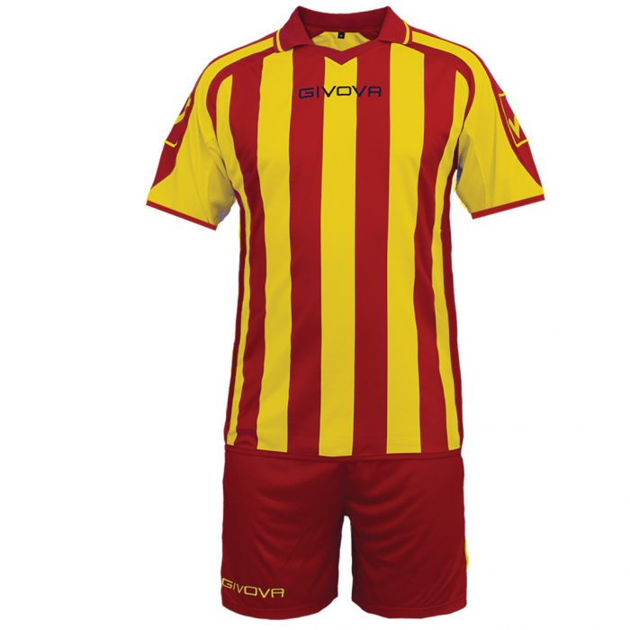 Givova Supporter Football Kit Red Yellow