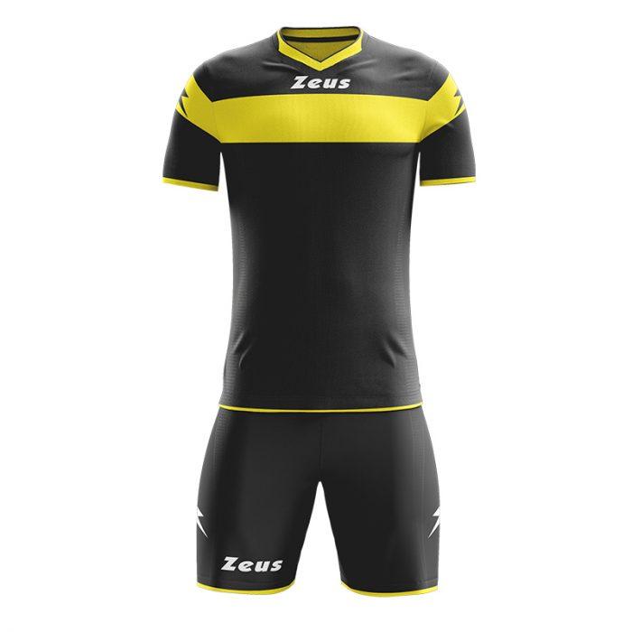 Zeus Apollo Football Kit Black Yellow