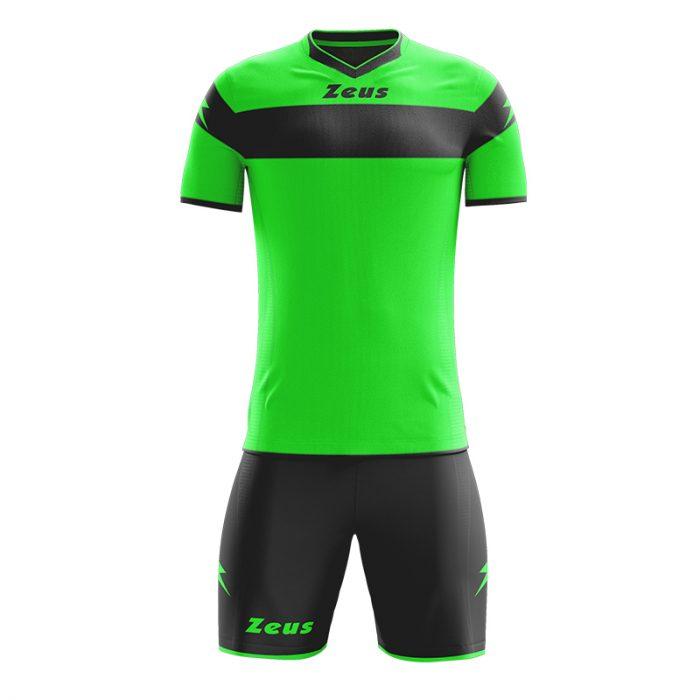 Zeus Apollo Football Kit Green Fluo Black
