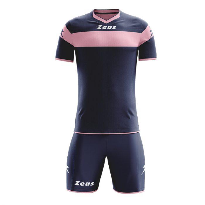 Zeus Apollo Football Kit Navy Pink