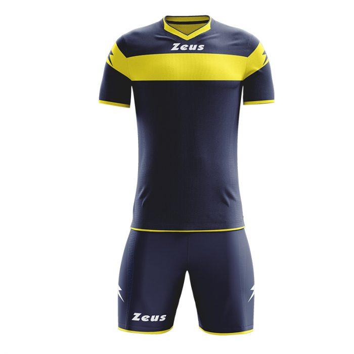 Zeus Apollo Football Kit Navy Yellow