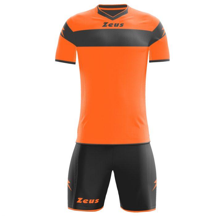 Zeus Apollo Football Kit Orange Fluo Black